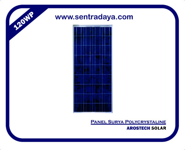 panel surya polycrystalin 120wp