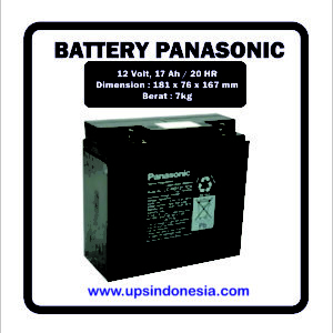 Battery UPS Panasonic 12v 17ah